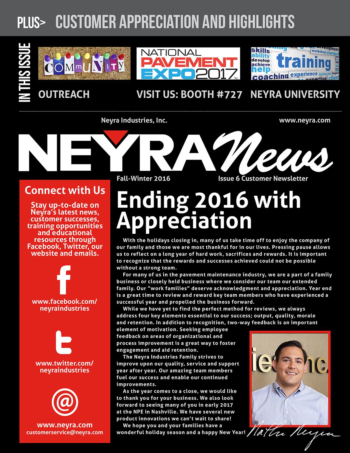 Customer Newsletter Fall Winter 2016 Issue 6 for web