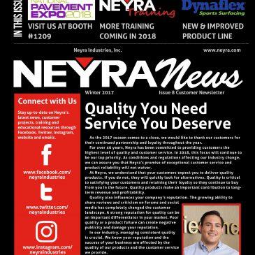 Neyra News Customer Newsletter – Fall/Winter 2017