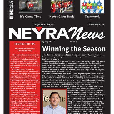 Neyra News Customer Newsletter – Spring/Summer 2017