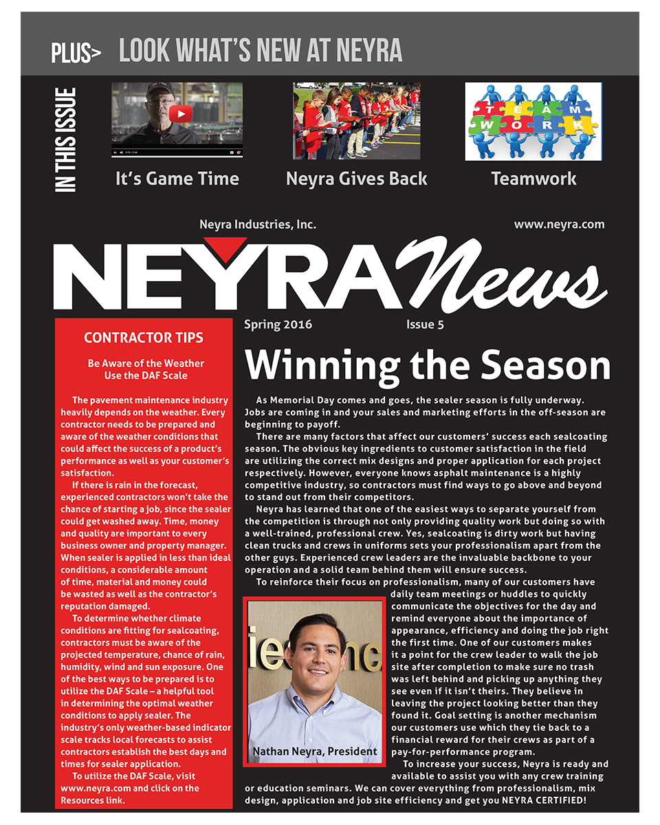 Customer Newsletter Spring 2016 Front Page Small